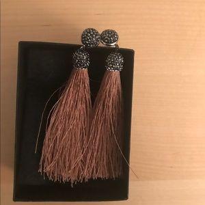 Never worn tassel post earrings